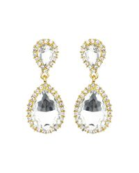 Mikey   Multicolor Twin Oval Stone Marquise Dop Earring   Lyst