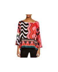 M Missoni Pink Abstract Silk Top