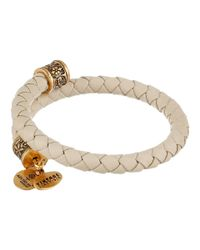 ALEX AND ANI - Natural Braided Leather Wrap Bracelet - Lyst
