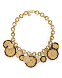 Tory Burch - Metallic Shiloh Statement Necklace - Lyst