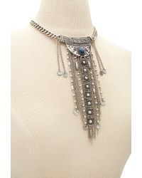 Forever 21 - Metallic Etched Fringe Necklace - Lyst