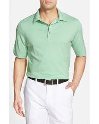 Bobby Jones | Green 'Supreme Nine Stripe' Tailored Fit Pima Cotton Golf Polo for Men | Lyst