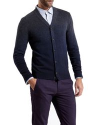 Ted Baker Gray Conveks Sprayed Ombre Cardigan for men