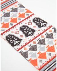 ASOS - Gray 2 Pack Socks With Christmas Star Wars Fair Isle Print for Men - Lyst