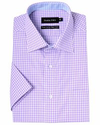 Double Two | Purple Check Classic Fit Classic Collar Formal Shirt for Men | Lyst