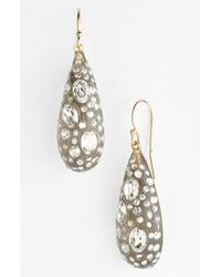 Alexis Bittar | Gray 'lucite - Jardin Mystere' Teardrop Earrings - Warm Grey | Lyst