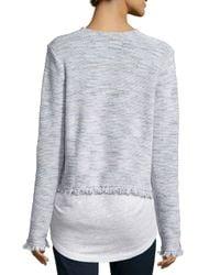 Joie - Gray Nalah B Tweed Jacket - Lyst