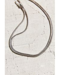 Urban Outfitters | Metallic Double Snake Chain Short Necklace | Lyst