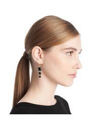 COACH - Metallic Triple Stone Drop Earring - Lyst