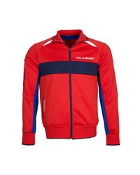 Ralph Lauren | Red Color-blocked Track Jacket for Men | Lyst