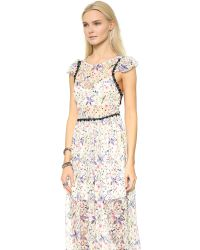 Free People - Multicolor Cherry Blossom Maxi Dress - Spring Garden Combo - Lyst