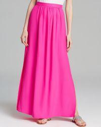 Amanda Uprichard Pink Maxi Skirt Slit Silk