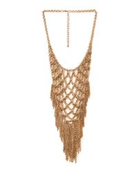 Forever 21 - Metallic Statement Chain Bib Necklace - Lyst