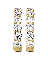 Dyrberg/Kern | Metallic Dyrberg/kern Gold Plated Cubic Zirconia Hoop Earrings | Lyst
