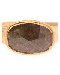 Ram - Metallic 22k Gold Ring with Large Diamond - Lyst
