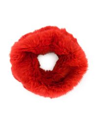 Yves Salomon | Red Circle Scarf | Lyst