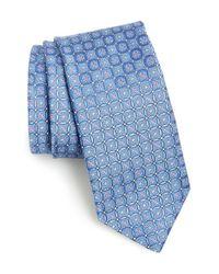 John W. Nordstrom | Blue 'bucannon' Medallion Silk Tie for Men | Lyst