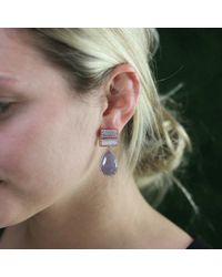 Dana Rebecca - Metallic Purple Sapphire And Opal Earrings - Lyst