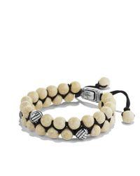 David Yurman - Metallic Spiritual Beads Tworow Bracelet with River Stone for Men - Lyst
