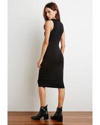 Forever 21 Black V-neck Midi Dress