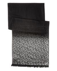 Calvin Klein | Black Metallic Ck Logo Scarf | Lyst