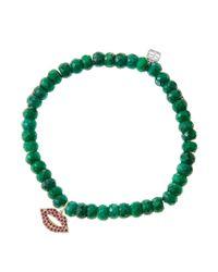 Sydney Evan | Green Design Your Own Bracelet (made To Order) | Lyst