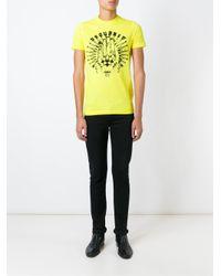 DSquared² - Yellow Logo T-shirt for Men - Lyst