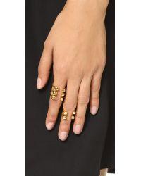 Joomi Lim | Metallic Dot And Dash Sphere Ring Set - Gold | Lyst