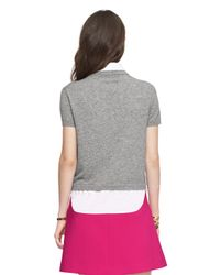 Kate Spade | Gray Shirttail Sweater | Lyst