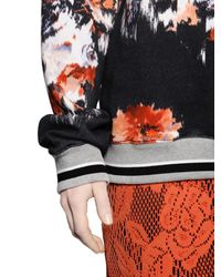 MSGM Multicolor Floral Printed Cotton Sweatshirt