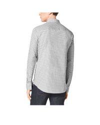 Michael Kors - Black Tailored-fit Check Cotton Shirt - Lyst