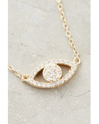 Shashi - Metallic Shimmered Eye Necklace - Lyst