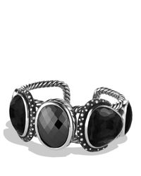 David Yurman - Metallic Grisaille Cuff With Hematine, Crystal, And Diamonds - Lyst