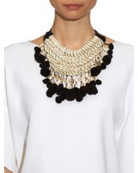 Figue - Black Malo Shell And Pompom Necklace - Lyst