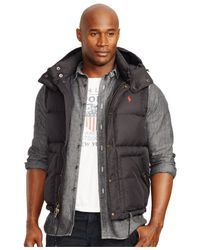 Polo Ralph Lauren | Black Big And Tall Elmwood Down Vest for Men | Lyst