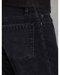 John Varvatos Blue Slim Fit Jean W Horn Shank Button for men