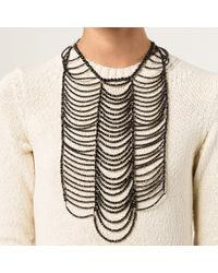 Brunello Cucinelli - Black Agate Breast Plate Necklace - Lyst