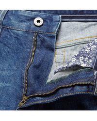 Incotex Blue Slim-Fit Washed-Denim Jeans for men