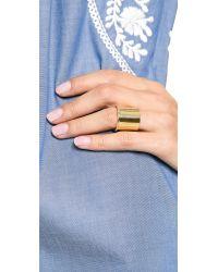 Elizabeth and James Metallic Bauhaus Large Finger Ring