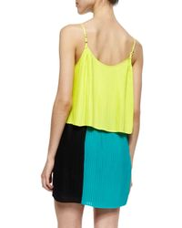 Parker Multicolor Jett Tiered Colorblock Dress