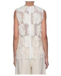 Erika Cavallini Semi Couture - White Koyo Cotton Top - Lyst