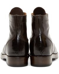 Officine Creative | Brown Leather Lowry Boots for Men | Lyst