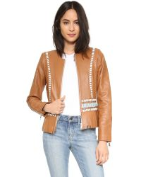 Nour Hammour Natural Lifetime Leather Jacket
