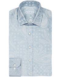 Etro | Metallic Slim-fit Single-cuff Jacquard Shirt - For Men for Men | Lyst