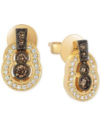 Le Vian | Metallic Chocolatier® Chocolate Deco Estate™ Gold Diamond (3/8 Ct. T.w.) Stud Earrings In 14k Gold | Lyst