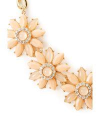 Forever 21 | Orange Fancy Floral Bib Necklace | Lyst