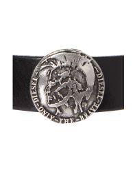 DIESEL - Black Mohican Bracelet for Men - Lyst