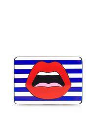 Yazbukey | Blue Le C'Est Ahh Plexiglas Clutch | Lyst