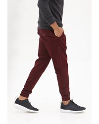 Forever 21 - Red Woven Drawstring Joggers for Men - Lyst