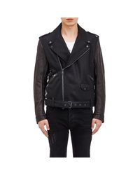 Marcelo Burlon | Black Men's Pendleton Moto Jacket for Men | Lyst